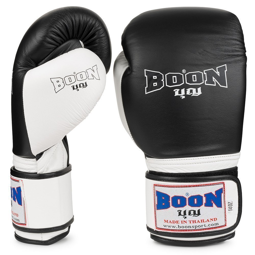 Boon Sport black and white compact boxing gloves