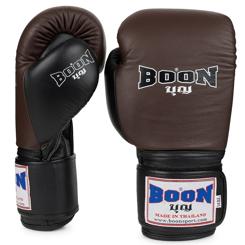 Boon Sport brown and black compact boxing gloves