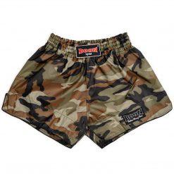 Boon Sport Green Camo Retro Muay Thai Shorts