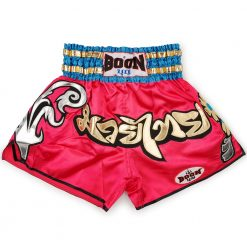boon sport pink traditional muay thai shorts / mt34