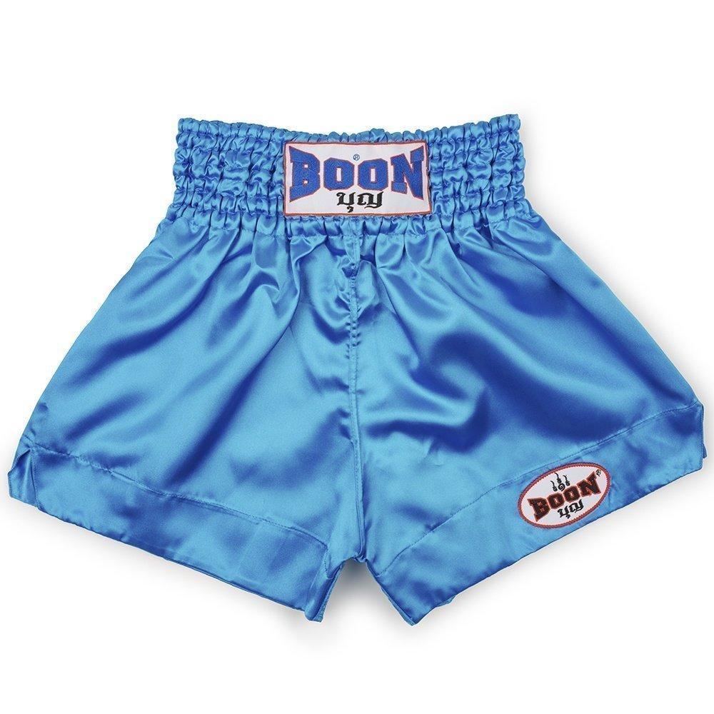 boon sport blue traditional muay thai shorts mt01