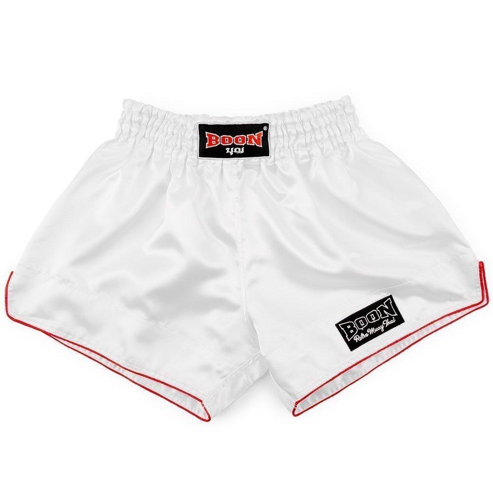 Boon Sport White Retro Muay Thai Shorts