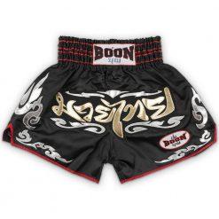 boon sport black traditional muay thai shorts mt36