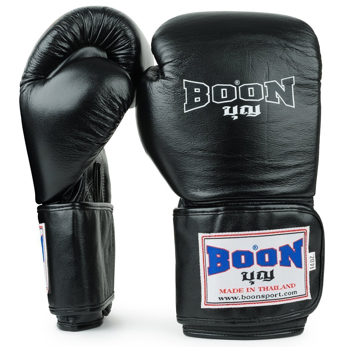 Boon Sport traditional black muay thai boxing gloves