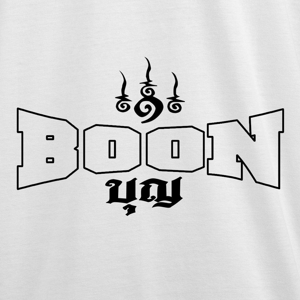 Boon Sport Muay Thai T-Shirt Logo White TSB-W