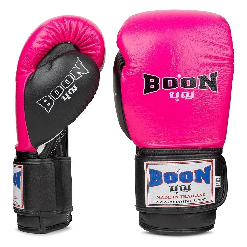 Boon Sport pink and black compact boxing gloves