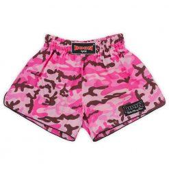Boon Sport Pink Camo Retro Muay Thai Shorts